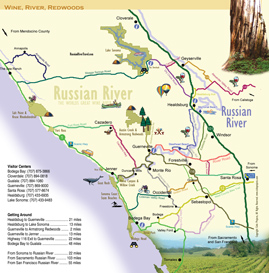 Russian River Map